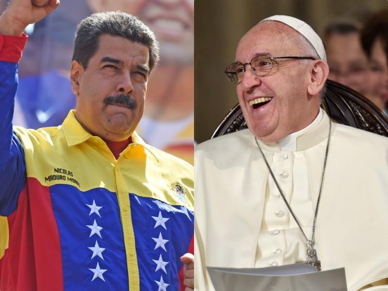 Maduro pide ayuda al Papa Francisco