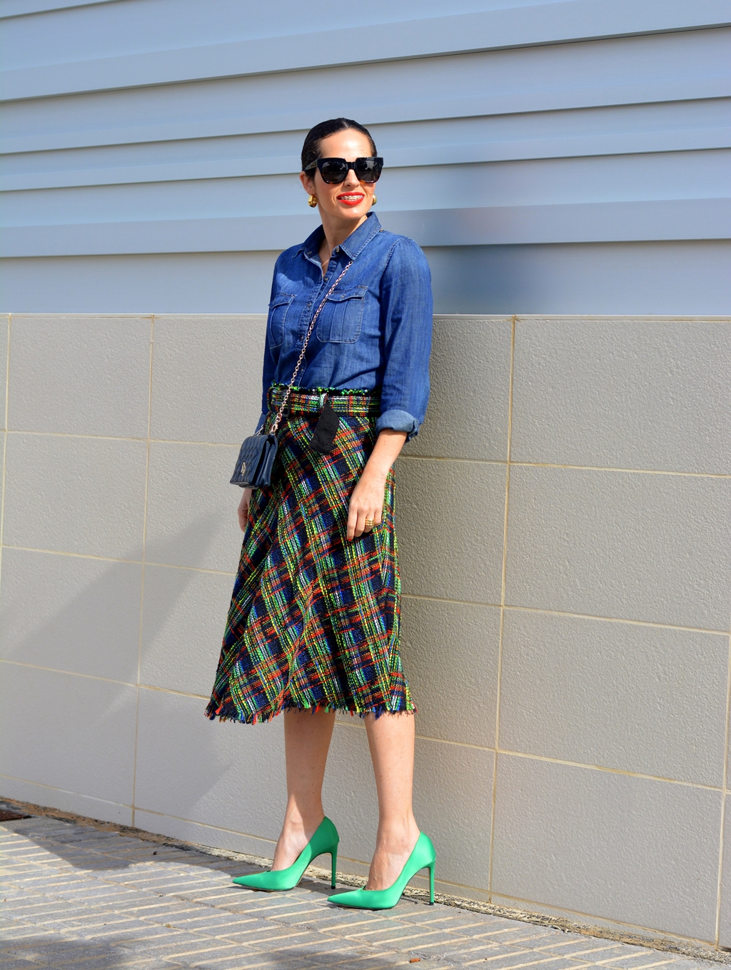 zara-tweed-midi-skirt-outfit