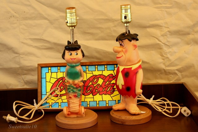 BETTY RUBBLE AND FRED FLINTSTONE CHILDREN'S LAMPS