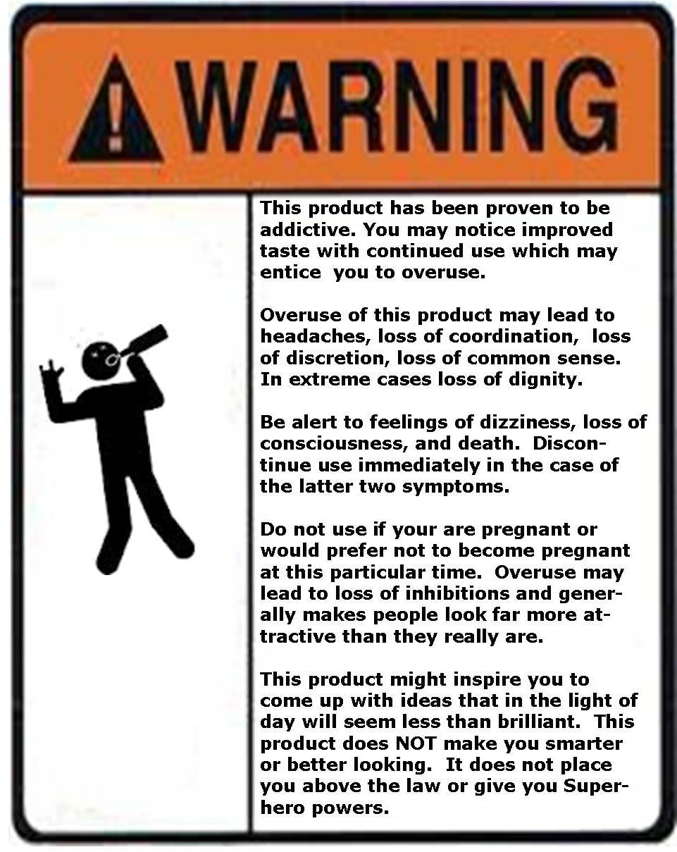 It's just a picture of Sweet Funny Beer Warning Labels
