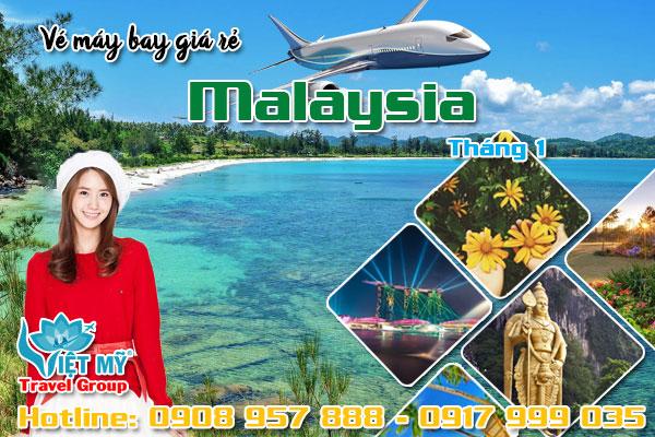 Vé máy bay đi Malaysia tháng 1