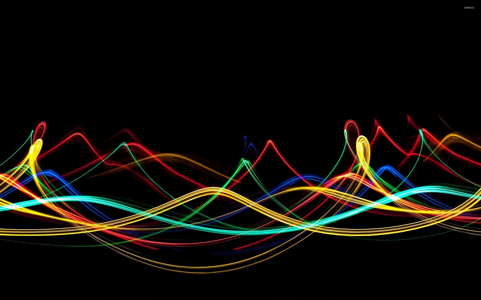 Neon Wallpapers for Android - Neon Strands Wallpaper