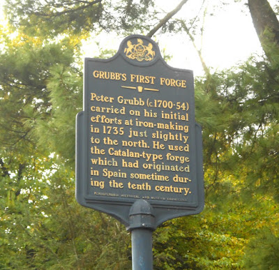 Grubb's First Forge Historical Marker in Cornwall Pennsylvania