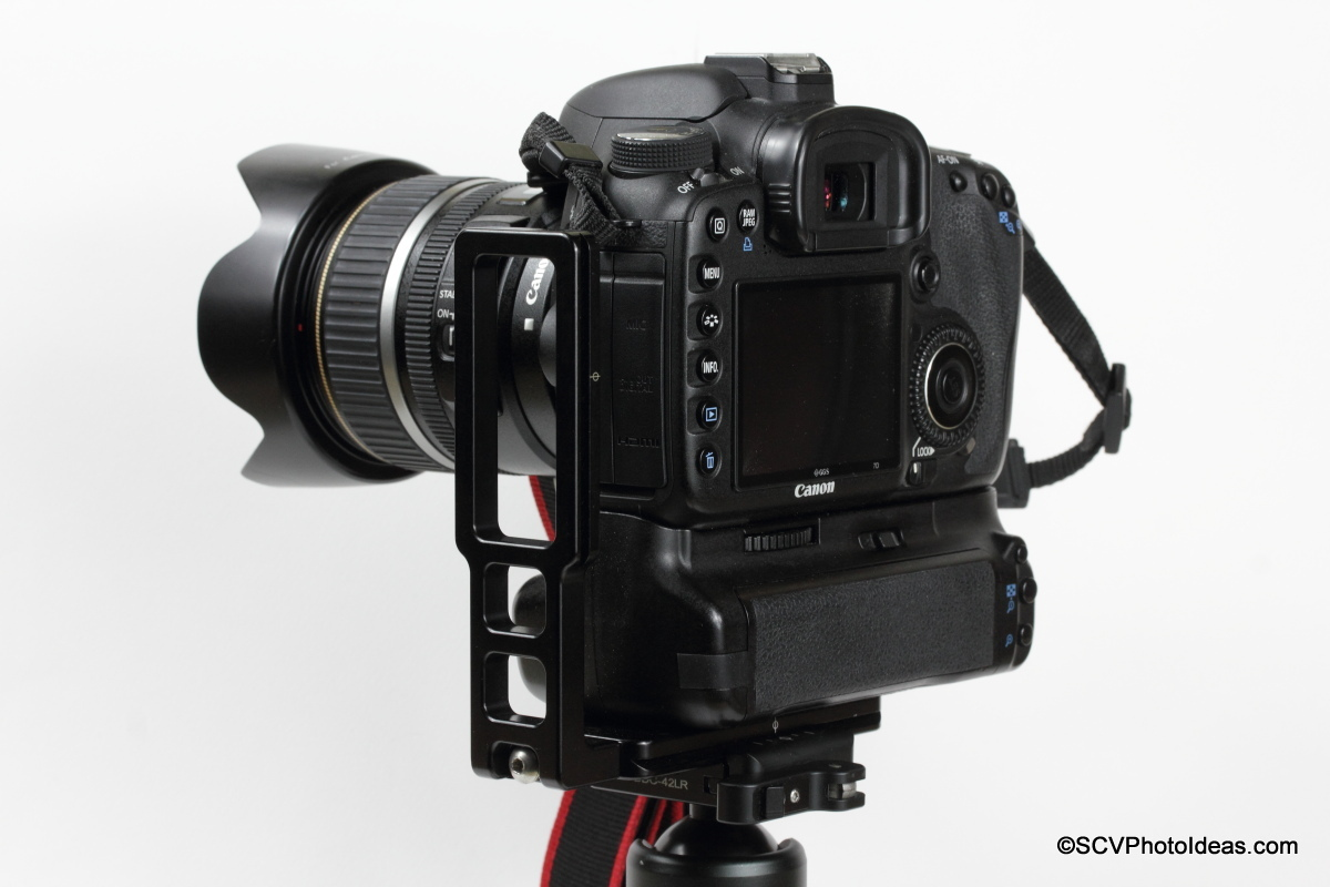 Hejnar L Bracket 44 on Gripped Canon EOS 7D - Landscape shifted