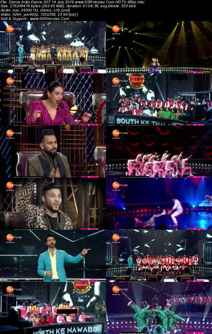Dance India Dance S07 14 July 2019 HDTV 480p Full Show Download