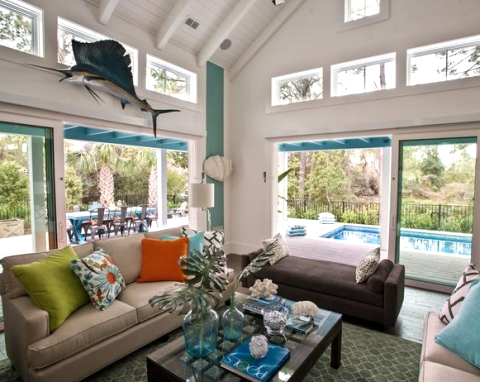 coastal decorations in HGTV smart home 2013