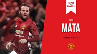 Juan Mata Man of the Match Manchester United vs City 1-0