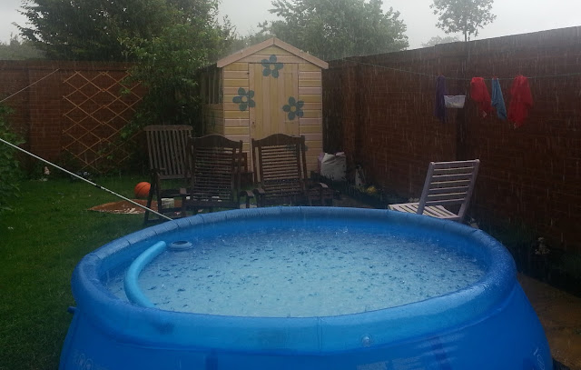 Heavy Rain in Paddling Pool