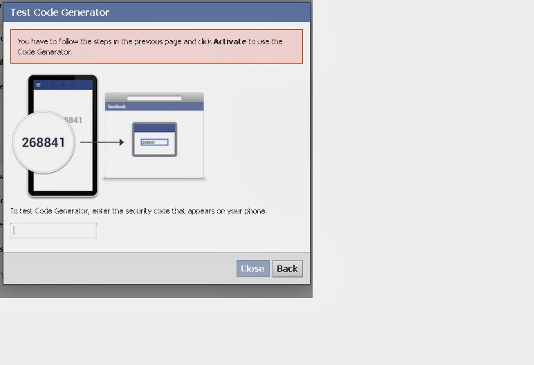 How To Deactivate Facebook Code Generator | More Know