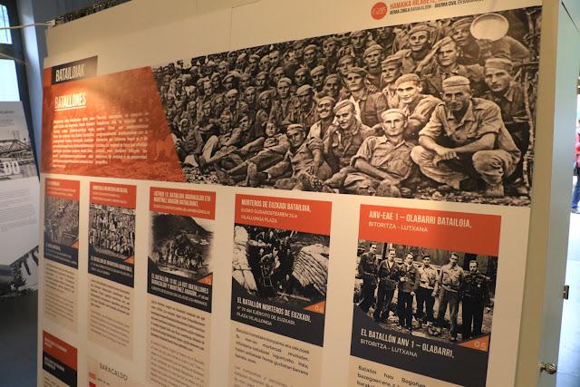 Exposición sobre la Guerra Civil, en el Cihma Luis Choya Almaraz, en El Regato