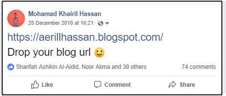 Senarai Bloglist Januari 2019