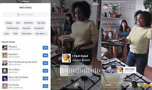 Một số người dùng Facebook đã nhận được tính năng chèn nhạc vào ảnh và video