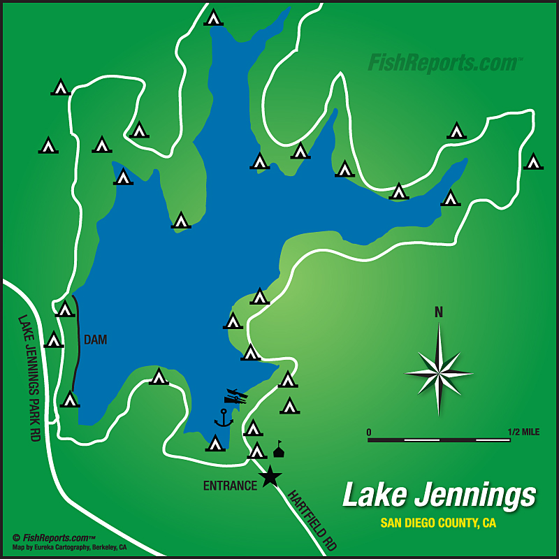 lake jennings campground map Wes Travels To California Lakes June 2018 lake jennings campground map