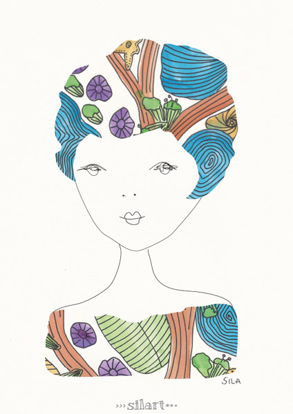 Agathe, girl illustration