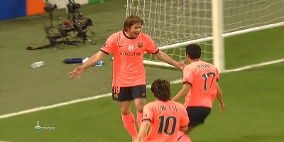 UEFA-4 : Inter Milan 3 vs 1 Barcelona 20-04-2010