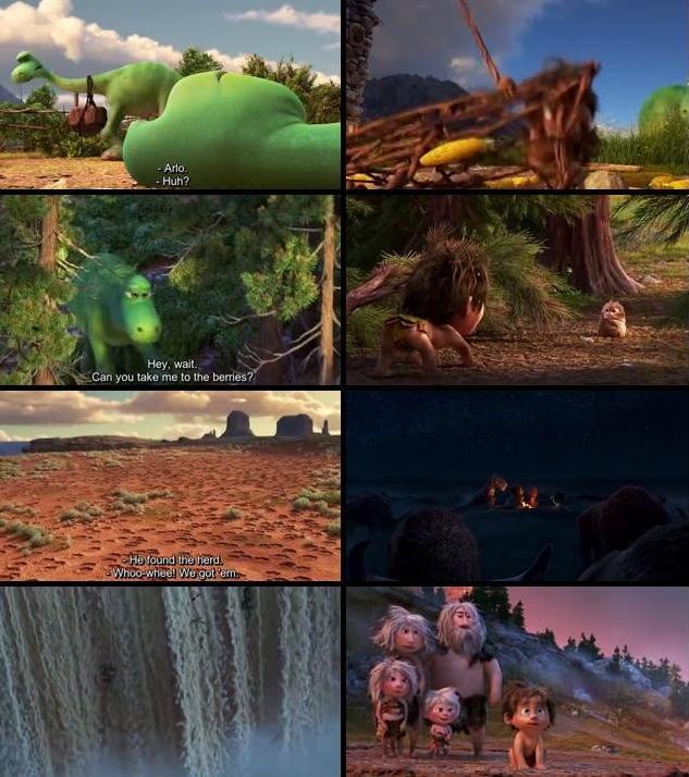 The Good Dinosaur 2015 English 480p BRRip 300mb ESubs