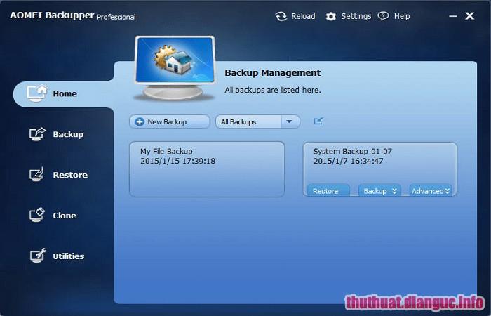 Download AOMEI Backupper Professional 4.5.2 Full Cr@ck – Sao lưu và khôi phục dữ liệu