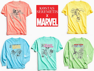 Urban Outfitters Exclusive Kostas Seremetis x Marvel Comics T-Shirt Collection