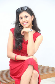 Mounika Telugu Actress in Red Sleeveless Dress Black Boots Spicy Pics 044.JPG