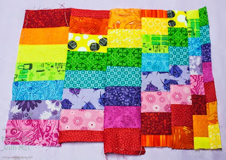the first block of the mystery quilt
