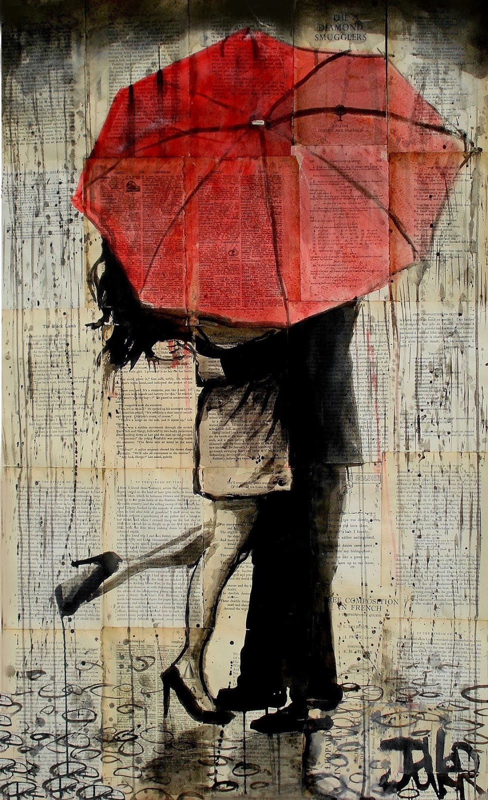 Loui jover 1967 abstract surrealist painter tutt 39 art for Painting red umbrella