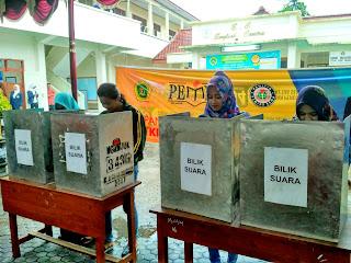 Pemilu Raya berlangsung Aman dan Damai ,Mahasiswa STKIP PGRI Nganjuk tunjukkan semangat Berdemokrasi