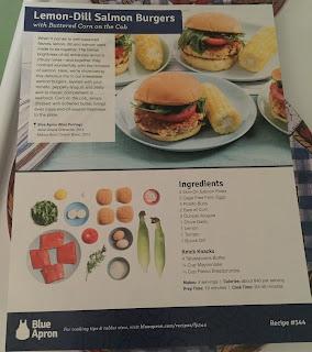 lemon-Dill Salmon burgers menue card