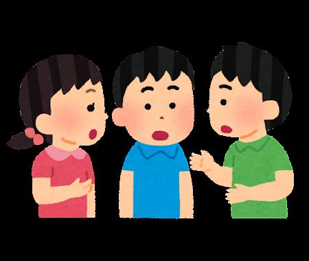 話し合う子供たちのイラスト