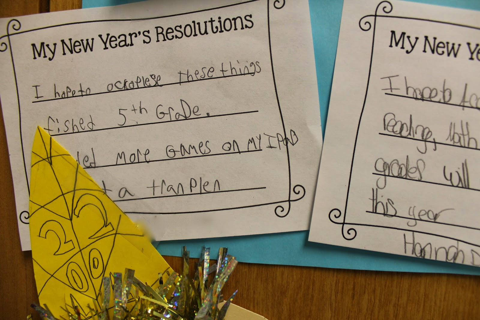 Life In First Grade New Year S Resolutions Activity And Winter Centers