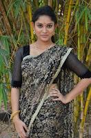 Tamil Actress Sri Priyanka Pos in Saree at Pichuva Kaththi Tamil Movie Audio Launch  0002.jpg