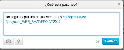 No llega aceptación de los wireframes #riesgo #retraso  #proyecto_WEB_SHAREPOINT2010