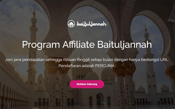 Jana Income Online Menerusi Program Affiliate Cari Jodoh Baituljannah