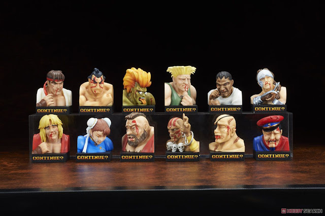 Street Fighter II Trading Figure Defeated Face Collection Vol.1