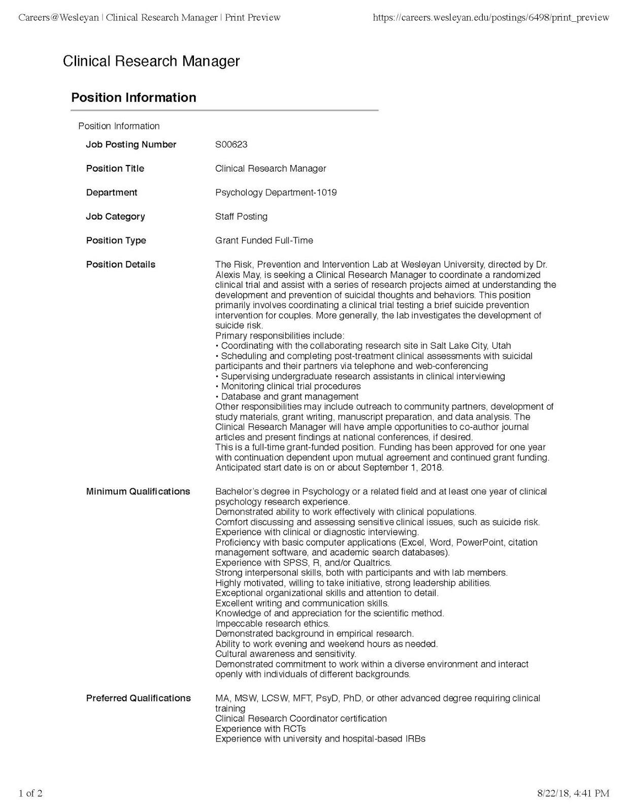 Indiana University Psychology Neuroscience Blog Recruiting For A