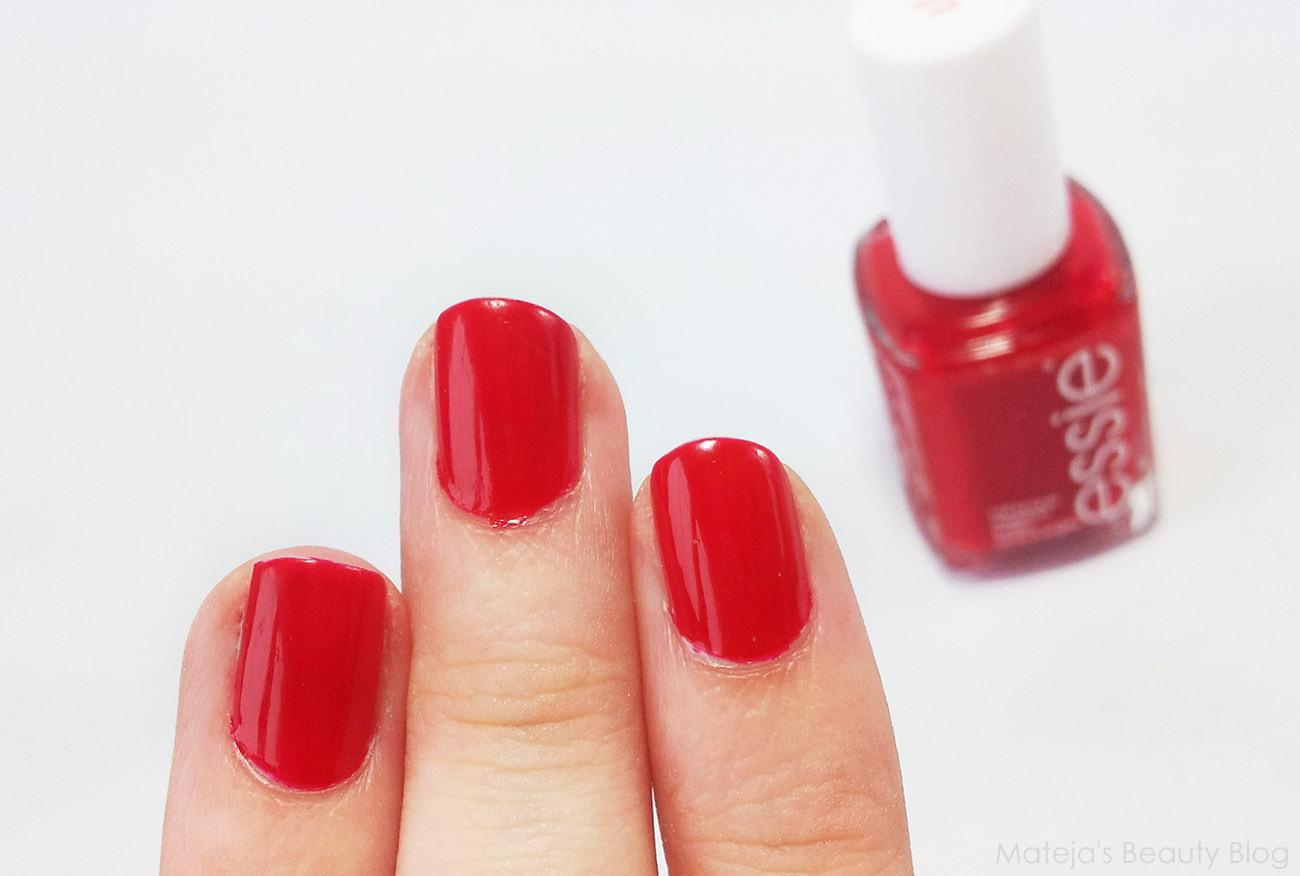 Bright Red Nail Polish Essie - Creative Touch