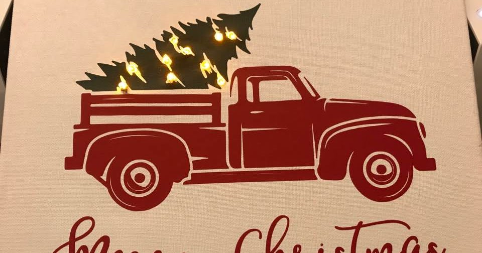 Crafting With April Lighted Red Truck Sign