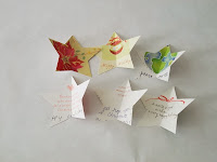 Holiday Paper Craft Tutorial: How to make a 3-D star ornament from old Christmas greeting cards | The Chilly Dog