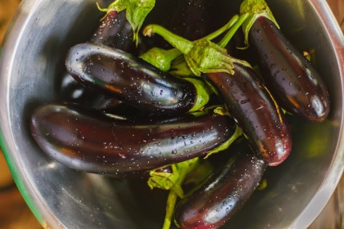 Eggplants in olive oil and citrus juice