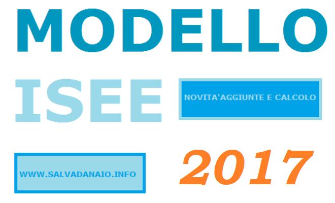 Compilazione modello isee 2017 e calcolo for Detrazione affitto 2017