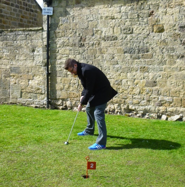 Mini Golf at the Castle Yard in Knaresborough