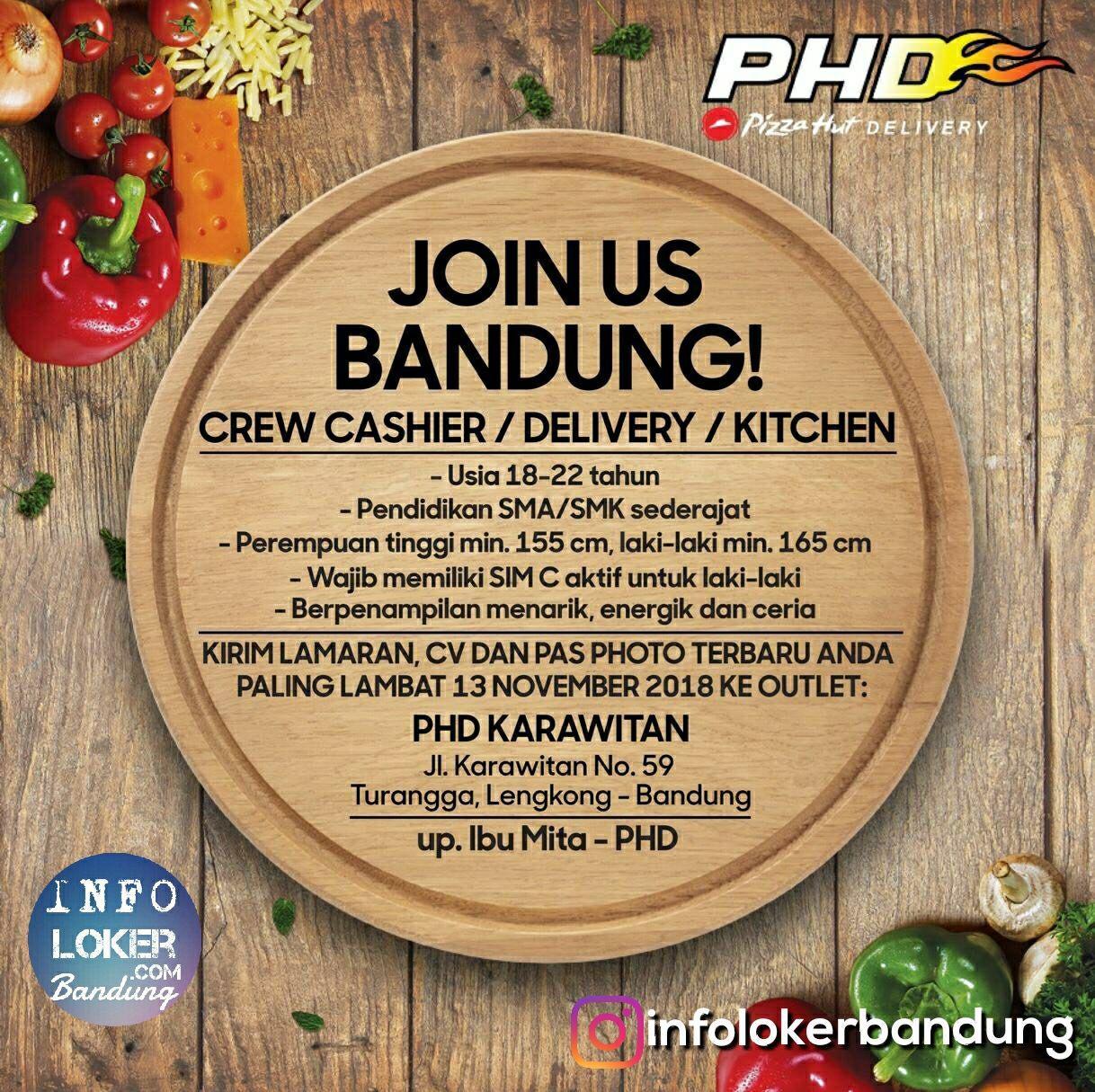 Lowngan Keja Pizza Hut Delivery (PHD) Bandung November 2018