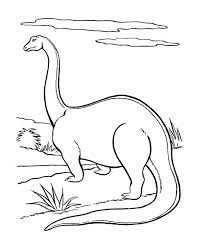 Big Brontosaurus Dinosaur Coloring Pages