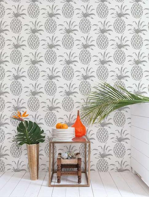 Tropik yatak odaları-ananas modası ve rahatlık