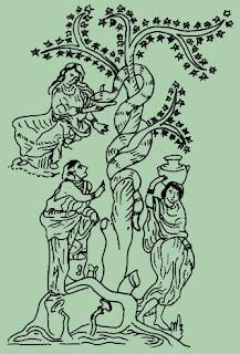 Baum der Hesperiden - Herakles Herkules und der Weltenbaum - Baum des Lebens Baum der Erkenntnis