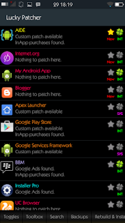 Screenshot Lucky Patcher menu Toolbox - catatandroid.blogspot.com
