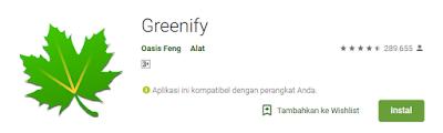 aplikasi greenefy