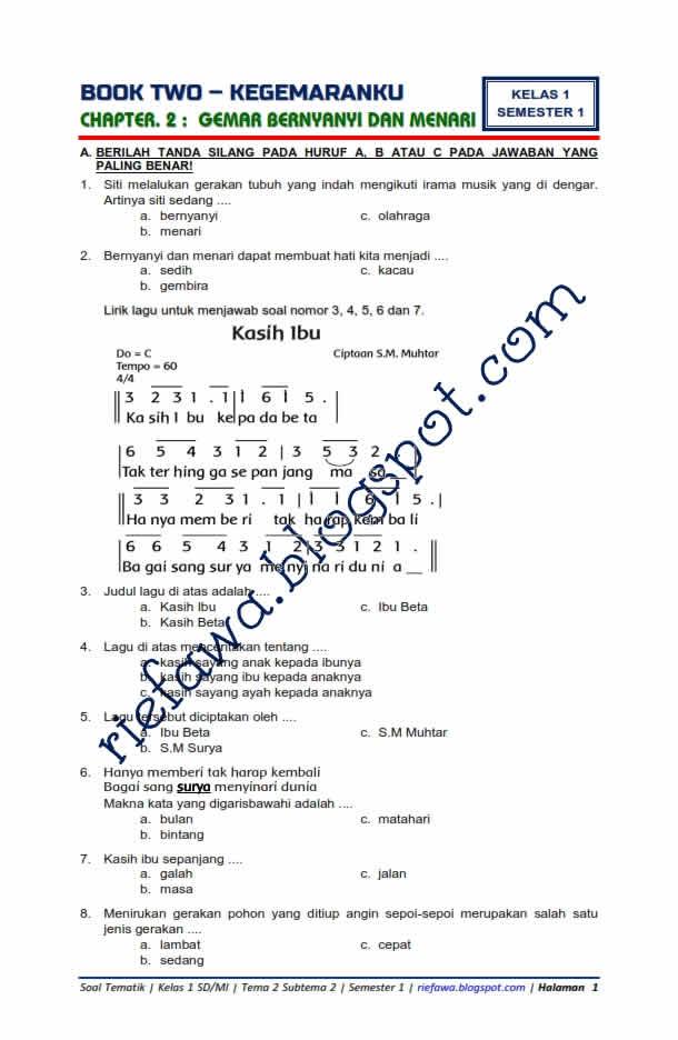 Contoh Soal Hots Sd Kelas 1 Tema 2 Ilmu Pengetahuan 9