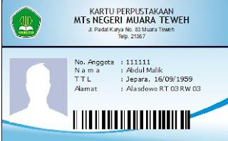Cara membuat Kartu Anggota Perpustakaan Support Barcode