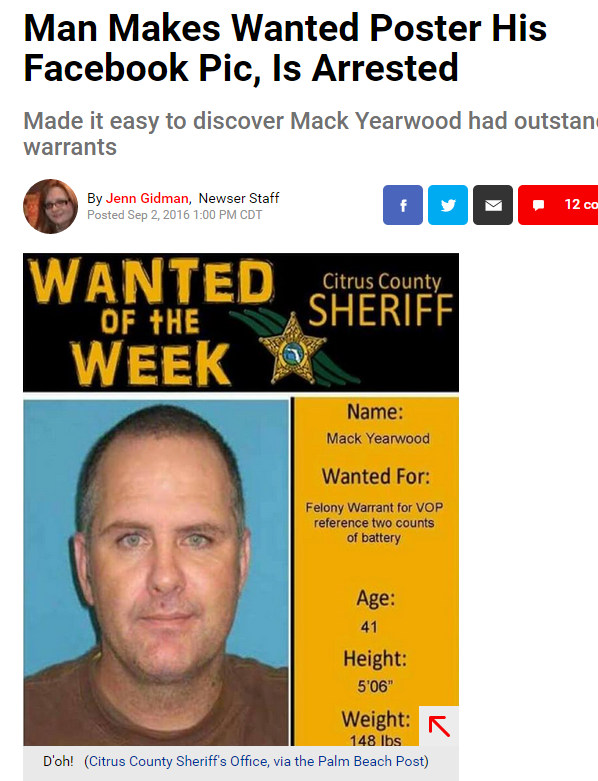Man makes wanted poster profile picture