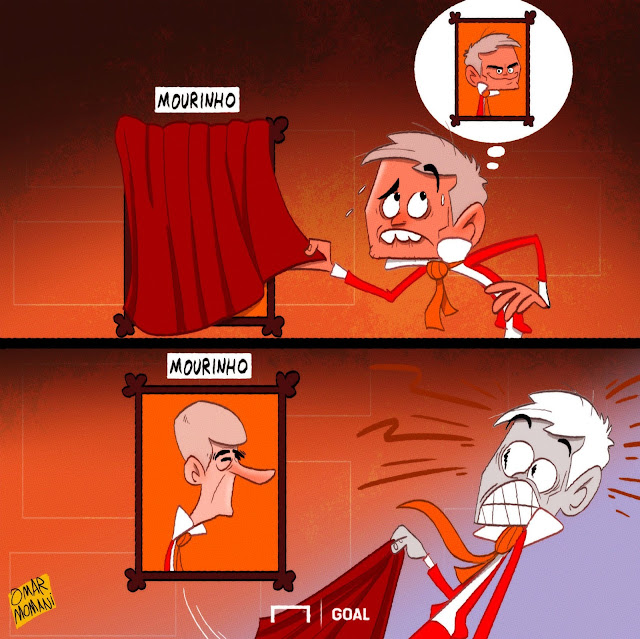 Mourinho and The Picture of Dorian Gray cartoon